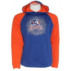 Youth Blue and Orange Pullover Hoodie