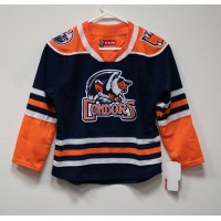 Youth Replica Jersey- Navy Blue and Orange